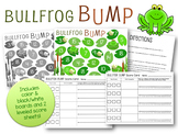 Bump Math Game - Addition Facts 1-18 Score Sheet and Number Line Bullfrog Bump