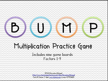 Bump Multiplication Practice Game