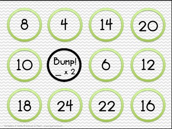 Bump Multiplication Practice Game