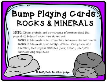 Bump Playing Cards: Rocks & Minerals (English)