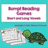 Bump Reading Games: Short and Long Vowels
