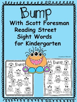 Bump  Sight Words~Kindergarten