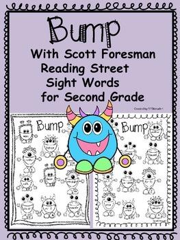 Bump Sight Words~Second Grade