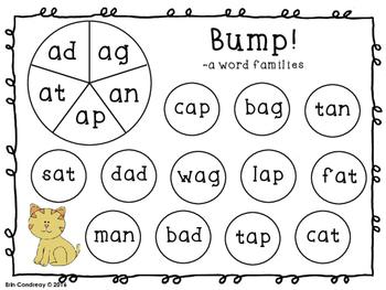 Bump! Short Vowels Version