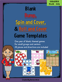 Bump, Spin and Cover, Roll and Cover Centers- 38 Blank, Themed Game Templates