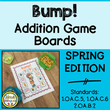 Bump! Spring Addition Game Boards
