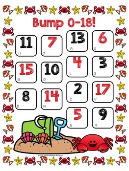 Bump! Summer Addition Game Boards