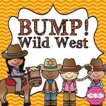 Bump! Western Theme Bump Math Game Board