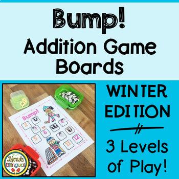 Bump! Winter Addition Game Boards