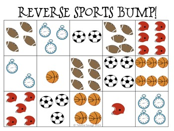 Bump and Reverse Bump- Games to learn the numbers 1-6