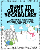 Winter Bump it Games Synonyms, Antonyms, Multiple Meaning Words, Context Clues