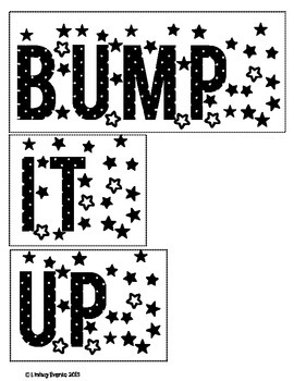 Bump it UP Bulletin Board Ready! Words and Posters: English & French