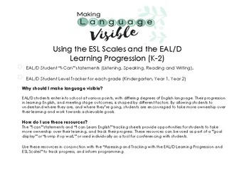 Bump it Up K-2 with the ESL Scales & EAL/D Learning Progression: Simple Stars