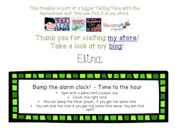 *FREE* Bump the alarm clock! Telling time with the Leprechaun