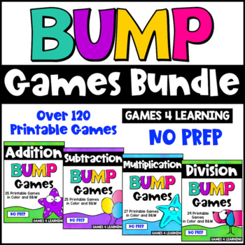 Math Games Bump Games Bundle: Math Facts Games
