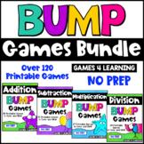 Printable Math Bump Game Bundle: Addition, Subtraction, Multiplication, Division