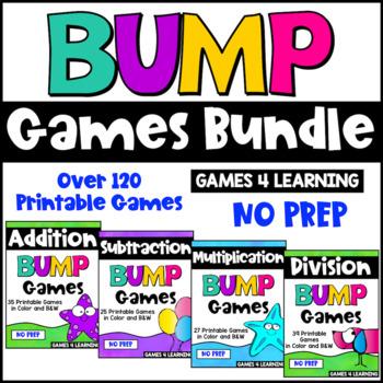 Math Games Bump Games Bundle: Math Facts Games