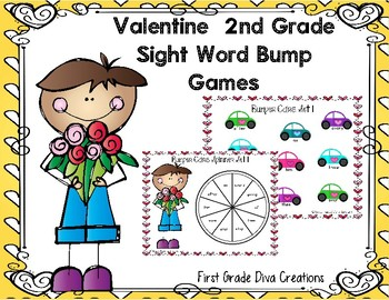Valentine Themed Printable Sight Word Game for Second Grade