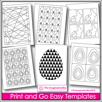 Easter Coloring Pages - Print and Go Templates
