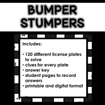 Bumper Stumpers Game