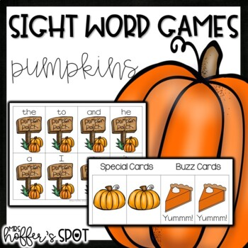 Pumpkin Sight Word Games