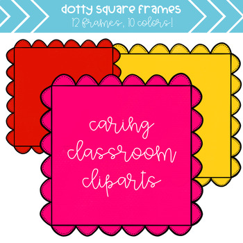 Bumpy Dotty Frames (10 colors) - Personal and Commercial Use