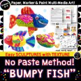 Bumpy Fish Metallic Art Sculptures-Texture & Form-No Paper Mache Paste Needed!