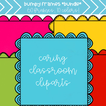 Bumpy Frames *BUNDLE* (10 colors) - Personal and Commercial Use