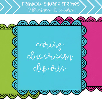 Bumpy Rainbow Frames (10 colors) - Personal and Commercial Use