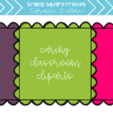 Bumpy Scallop Frames (10 colors) - Personal and Commercial Use