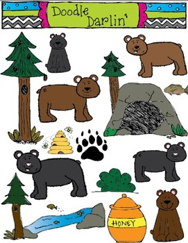 Bunch O' Bears COLOR ONLY Set