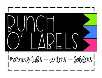 Bunch O' Labels - Green/Blue/Pink