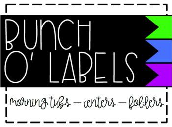 Bunch O' Labels - Green/Blue/Purple