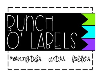 Bunch O' Labels - Green/Teal/Purple