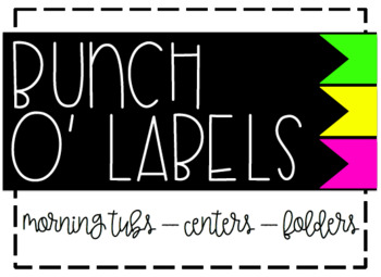 Bunch O' Labels - Green/Yellow/Pink