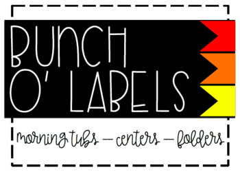 Bunch O' Labels - Red/Orange/Yellow