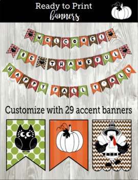 Bunch O'Banners: 86 Fall, Harvest, Halloween, & Thanksgiving Banners