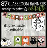 Bunch O'Banners: 86 Fall, Harvest, Halloween, & Thanksgivi