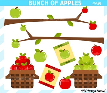 Bunch of Apples Clip Art