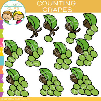 Bunch of Grapes Counting Clip Art