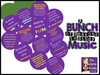 Bunch of Reasons Music Advocacy Bulletin Board