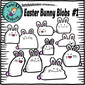 Bunchadoodles Easter Bunny Blobs #1