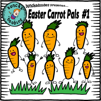 Bunchadoodles Easter Carrot Pals #1