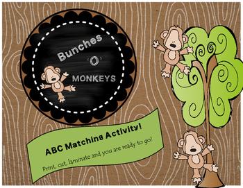 ABC Matching-Bunches 'O' Monkeys