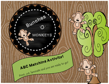 ABC Matching-Bunches 'O' Monkeys