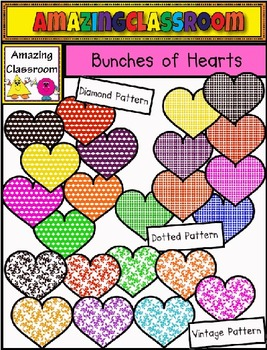 Bunches of Hearts Clip Art Set