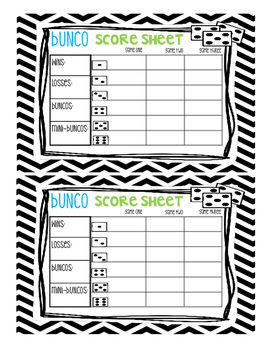 Bunco Binder Set
