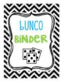 Bunco Binder Set