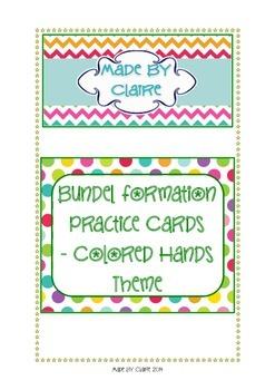 Bundel pack formation cards - colored hands theme