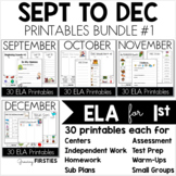 September to December Printables - ELA CCSS Common Core Crunch